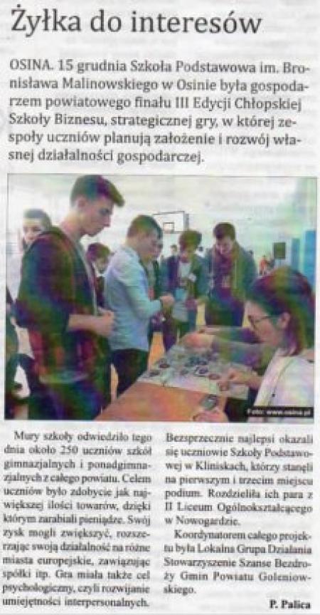 Powiatowy Turniej Chłopskiej Szkoły Biznesu