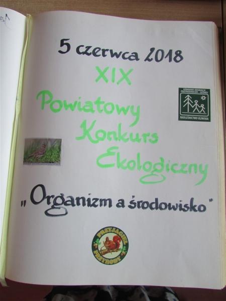 """Powiatowy Konkurs Ekologiczny """"Organizm a środowisko"""""""