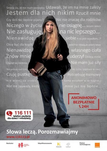 116 111 – Telefon Zaufania Dla Dzieci i Młodzieży