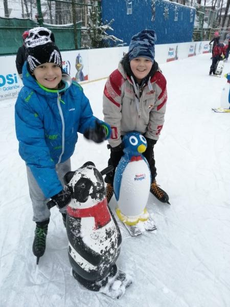 Lekcje wychowania fizycznego na lodowisku