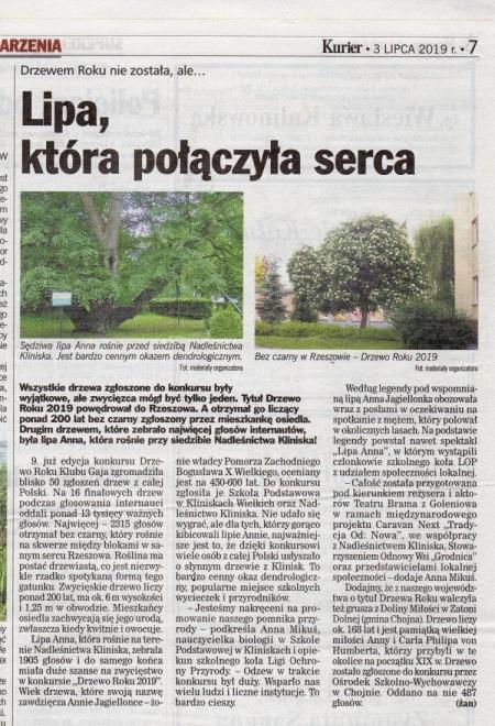"""""""Lipa Anna"""" na podium w konkursie na Drzewo Roku 2019"""