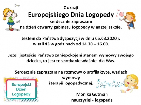 Europejski Dzień Logopedy