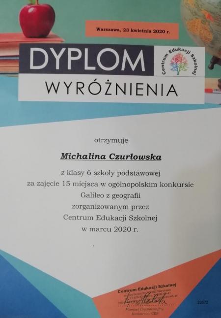 Ogólnopolski  Konkurs  Galileo z geografii