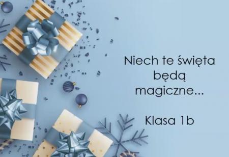 Życzenia świąteczne - klasa 1b [FILM]