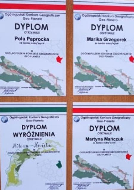 Wyniki w konkursie geograficznym Geo-planeta
