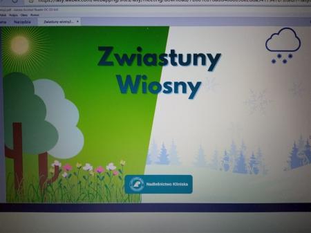 """""""Zwiastuny wiosny"""" - kolejna lekcja on-line z Nadleśnictwa Kliniska"""