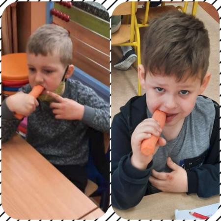Zdrowe zęby mamy - marchewkę zajadamy