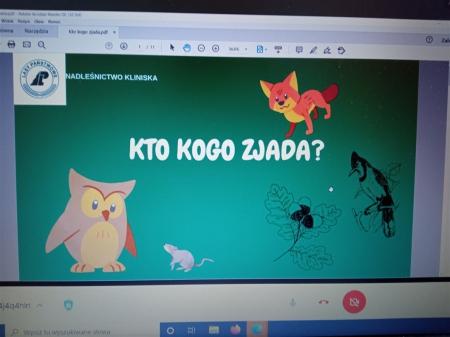"""""""Kto kogo zjada?"""" – lekcja on-line z Ośrodka Edukacji Przyrodniczo – Le"""