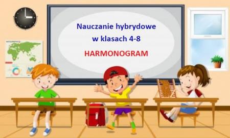 Nauczanie hybrydowe w klasach 4-8