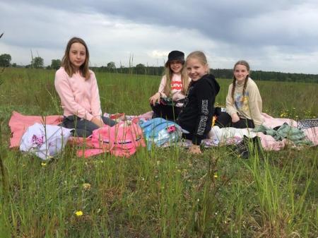 Dzień Dziecka w klasie 4b na łonie natury